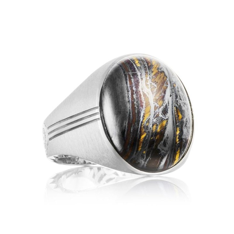 CLEARANCE Tacori Oval Cabochon Ring featuring Tiger Iron