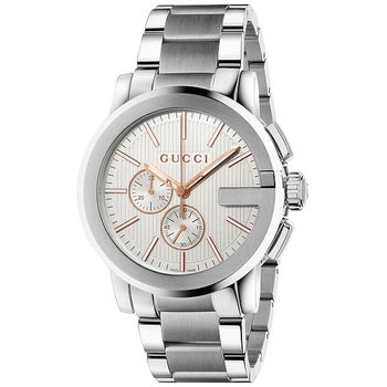 Gucci Unisex Swiss Chronograph G-Chrono Stainless Steel Watch