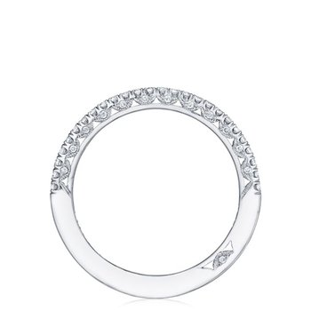 Petite Crescent Platinum Diamond Wedding Band