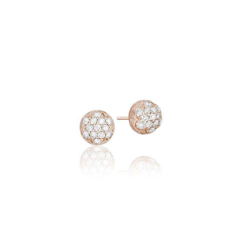 Tacori Tacori Petite Rose Gold Dew Drop Stud featuring Pavé Diamonds