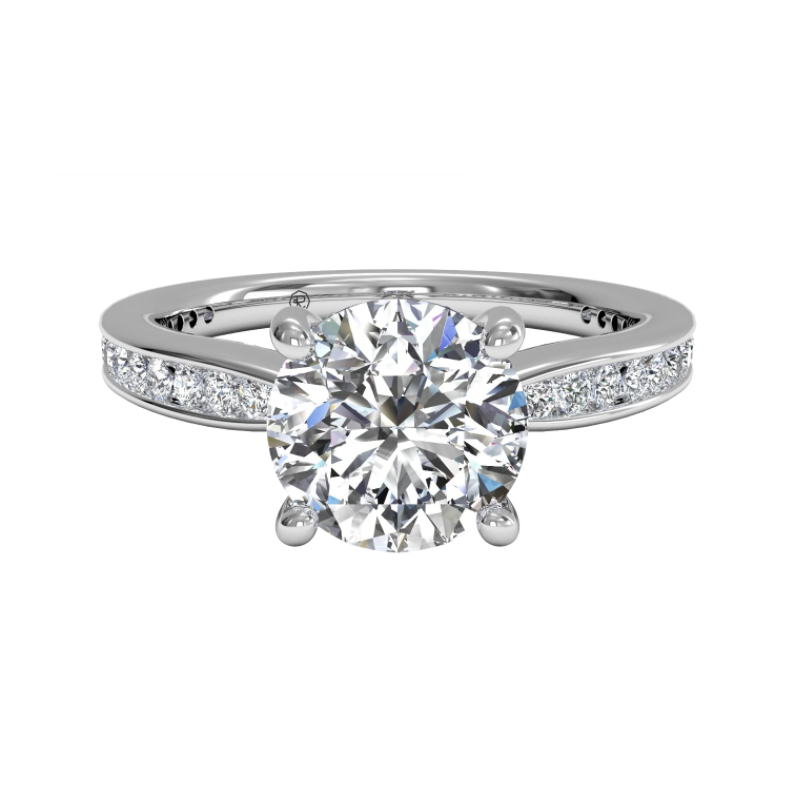 Ritani Clearance Tapered Channel-set Diamond Band Engagement Ring