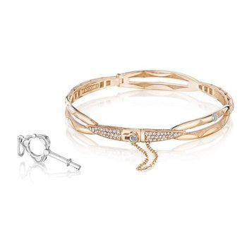 Tacori Promise Bracelet Round, Rose Gold with Pavé Diamonds