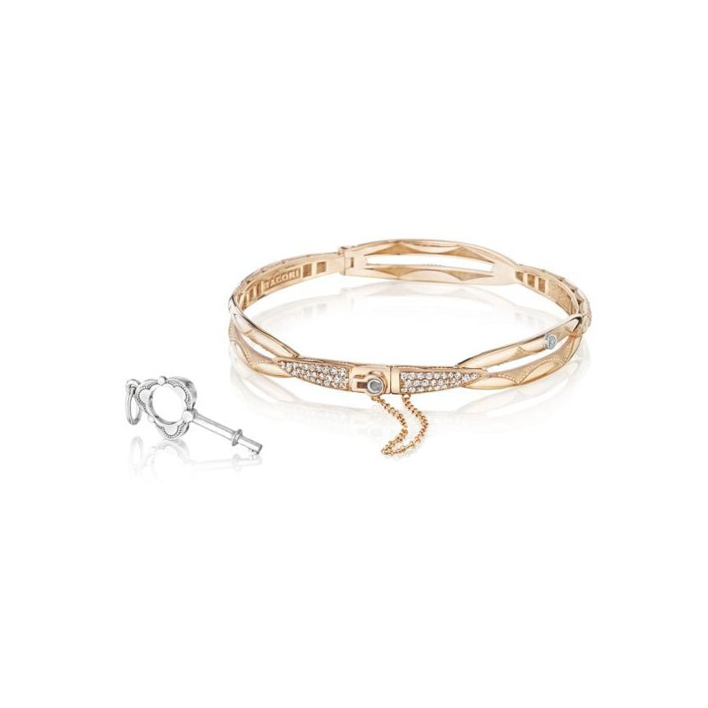 CLEARANCE Tacori Promise Bracelet Round, Rose Gold with Pavé Diamonds
