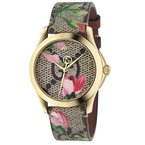 CLEARANCE Gucci G-Timeless Pink Blooms Print Dial Ladies Watch