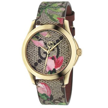 Gucci G-Timeless Pink Blooms Print Dial Ladies Watch