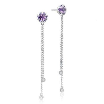 Tacori Drop Chain Earrings featuring Amethyst