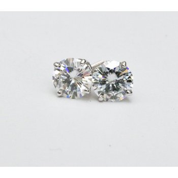 0.07ctw Diamond Stud Earrings - 14K White Gold