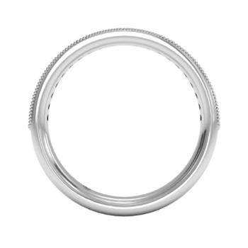 Diamond Milgrain Wedding Ring