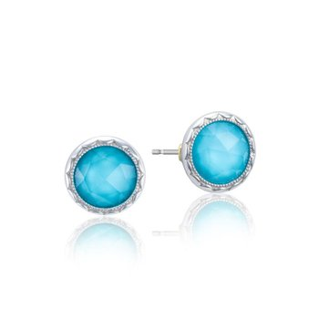 Bezel Studs featuring Neo-Turquoise
