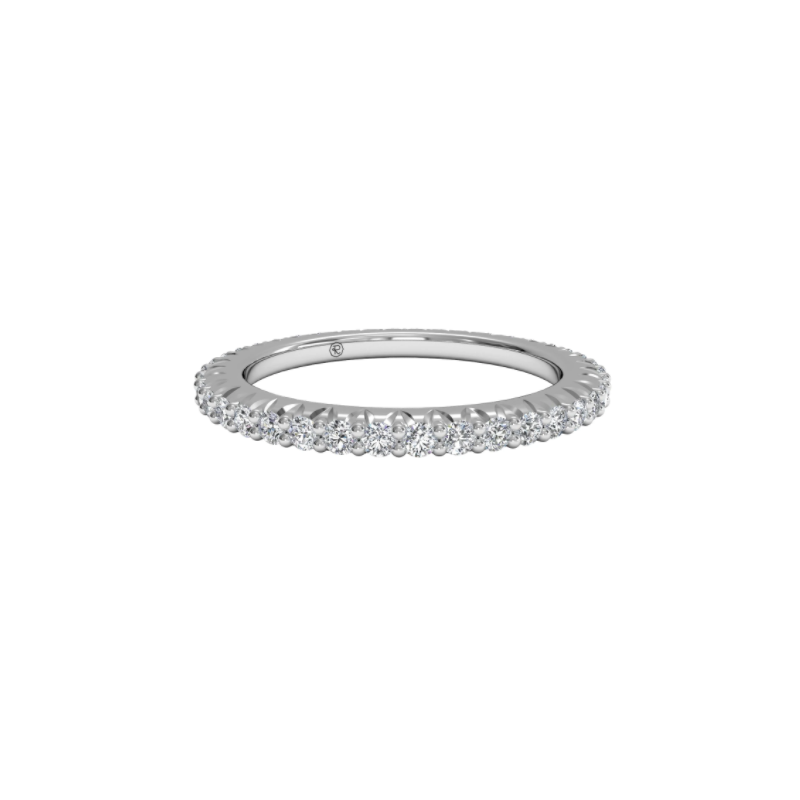 Ritani Clearance Micropavé Diamond Eternity Wedding Ring