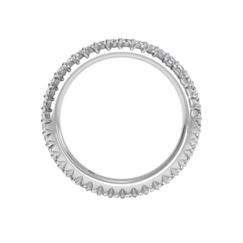 Micropavé Diamond Eternity Wedding Ring