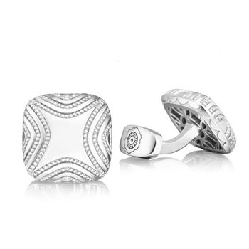 Tacori Retro Classic Cushion Milgrain Cuff Links