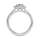 Ritani Clearance French-set Halo Diamond Engagement Ring