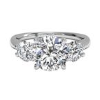 Ritani Clearance Three-stone Diamond Engagement Ring