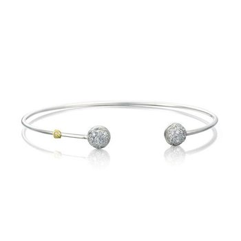 Tacori Sonoma Mist - Silver Wire Dew Drop Cuff featuring Pavé Diamonds