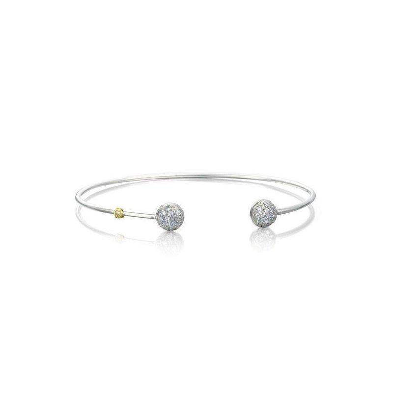 CLEARANCE Tacori Sonoma Mist - Silver Wire Dew Drop Cuff featuring Pavé Diamonds