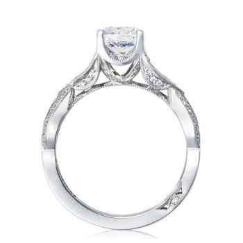 Ribbon Platinum Engagement Ring