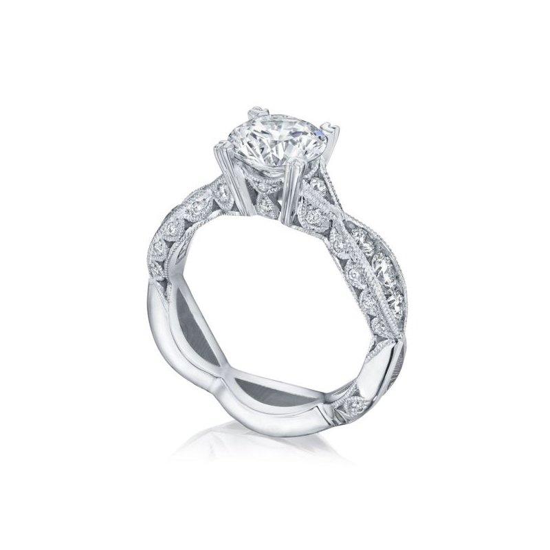 Tacori Classic Crescent Round Engagement Ring