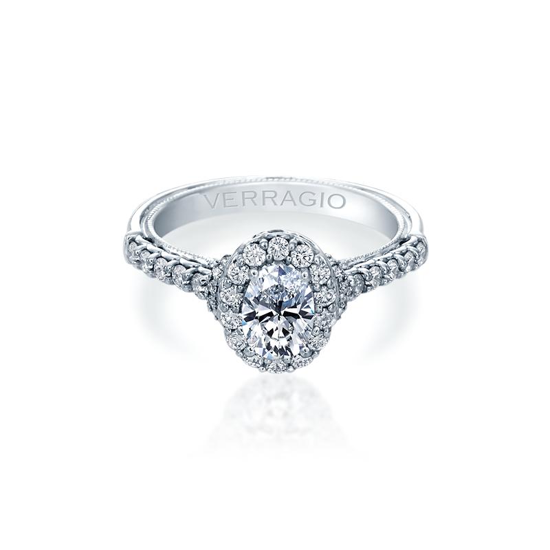 Verragio Renaissance-908-OV White Gold Engagement Ring