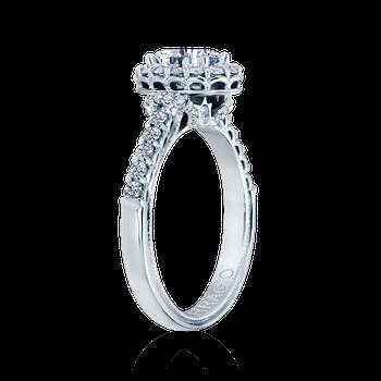 Renaissance-908-OV White Gold Engagement Ring