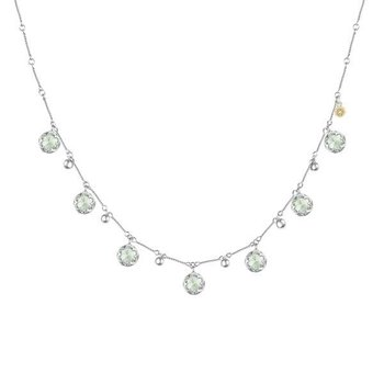 Tacori Multi-Gem Drop Necklace featuring Prasiolite