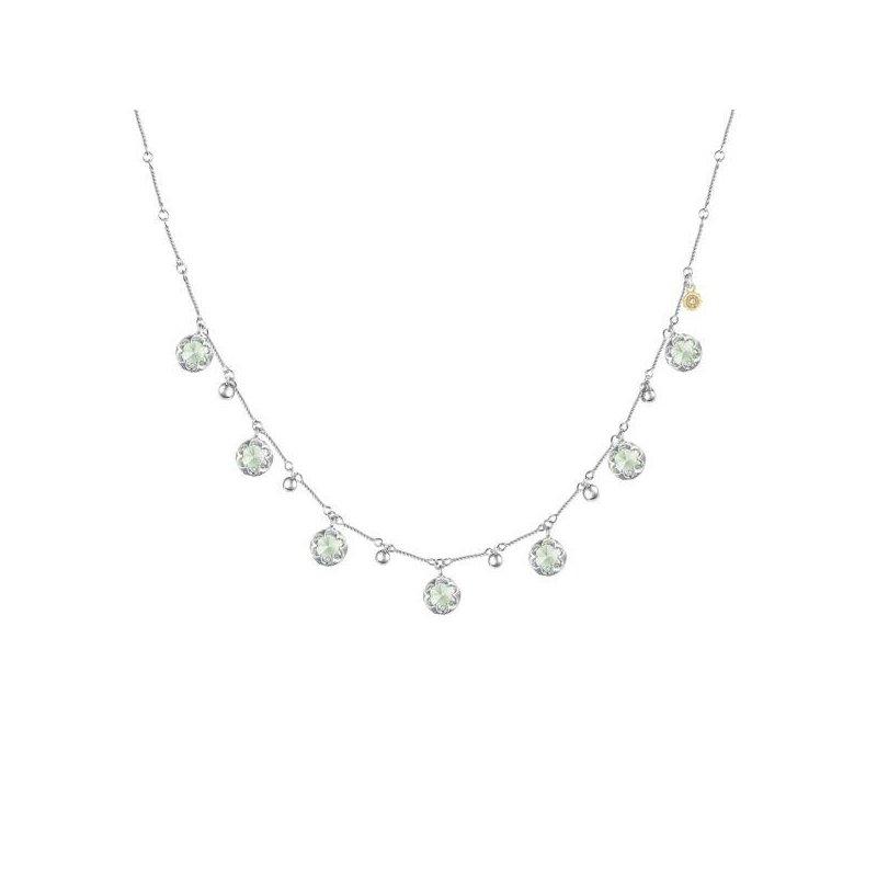 CLEARANCE Tacori Multi-Gem Drop Necklace featuring Prasiolite