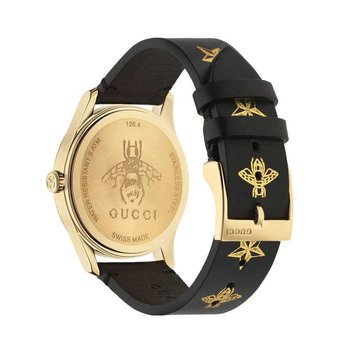 G-Timeless Gold and Black Dial, Bees and Stars Gucci Watch