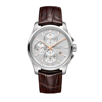 Jazzmaster Auto Chrono - Automatic 42mm - Brown Leather Strap