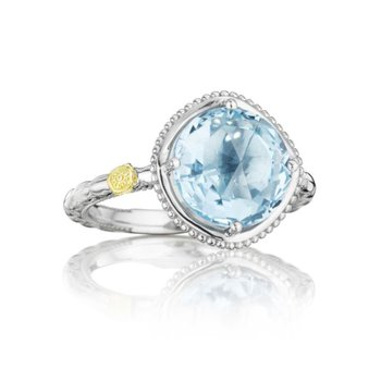 Bold Simply Gem Ring featuring Sky Blue Topaz