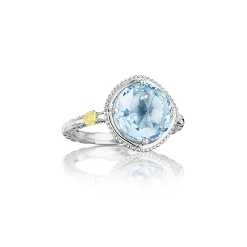 Tacori Bold Simply Gem Ring featuring Sky Blue Topaz