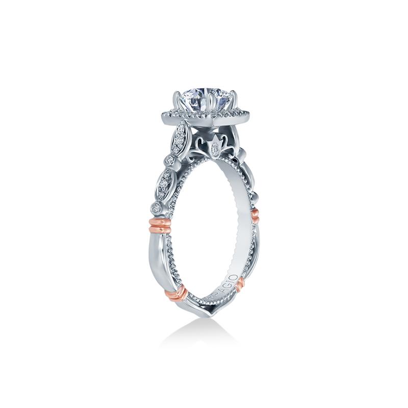 Verragio PARISIAN-136CU White Gold Engagement Ring