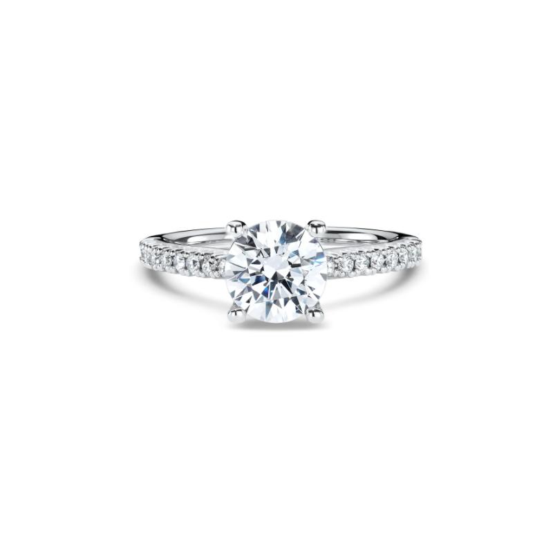Ritani Clearance French-set Diamond Band Engagement Ring