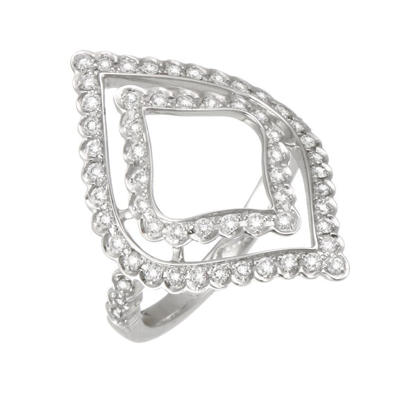 Devon Fashion White Gold Open Marquise Shaped Diamond Ring