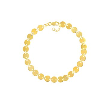 Yellow Gold Mini Disc Bracelet