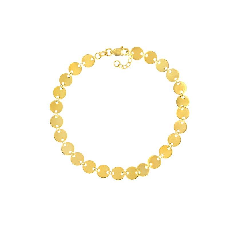 Devon Fashion Yellow Gold Mini Disc Bracelet