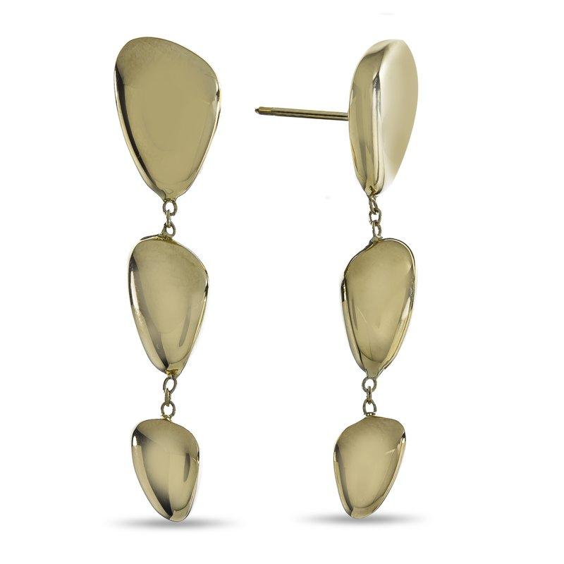 Rudolf Friedmann Yellow Gold Organic Bean Drop Earrings