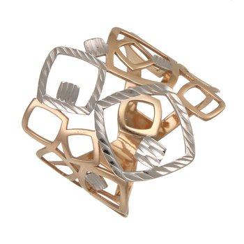 Two Tone Geometric Design Ring