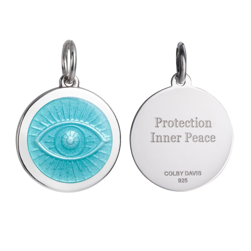 Colby Davis  Sterling Silver Small Evil Eye Pendant