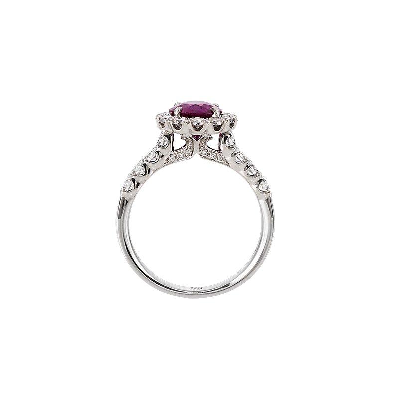 Devon Fashion White Gold Ruby and Diamond Ring