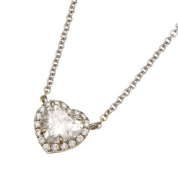 White Gold Diamond Heart Necklace