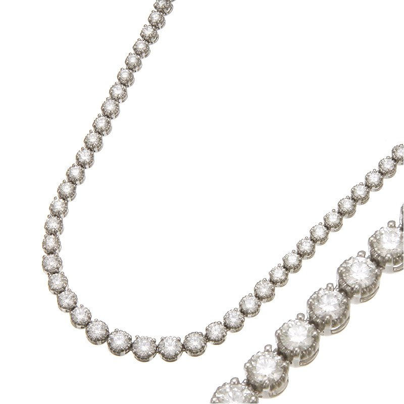 Devon Fashion White Gold Riviera Diamond Necklace