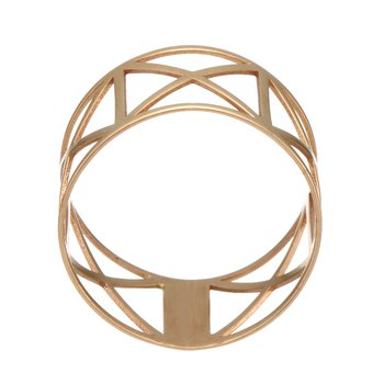 Rose Gold Geometric Cut Out Ring