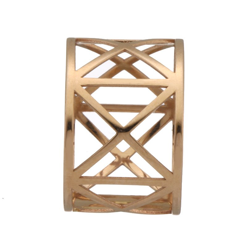 Devon Fashion Rose Gold Geometric Cut Out Ring