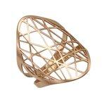 Devon Fashion Rose Gold Line Cut Out Ring