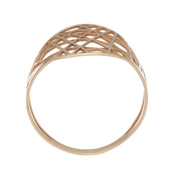Rose Gold Line Cut Out Ring