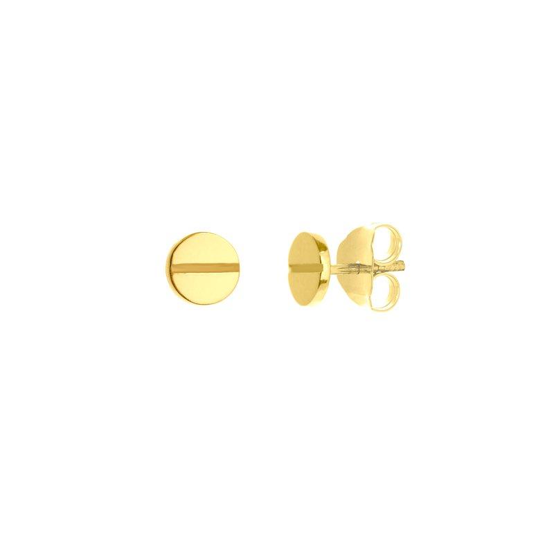 Devon Fashion Yellow Gold Screw Stud Earrings