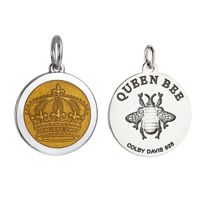 Colby Davis  Sterling Silver Medium Queen Bee Pendant