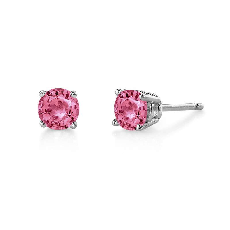 Stanton Color Yellow Gold Pink Tourmaline Stud Earrings