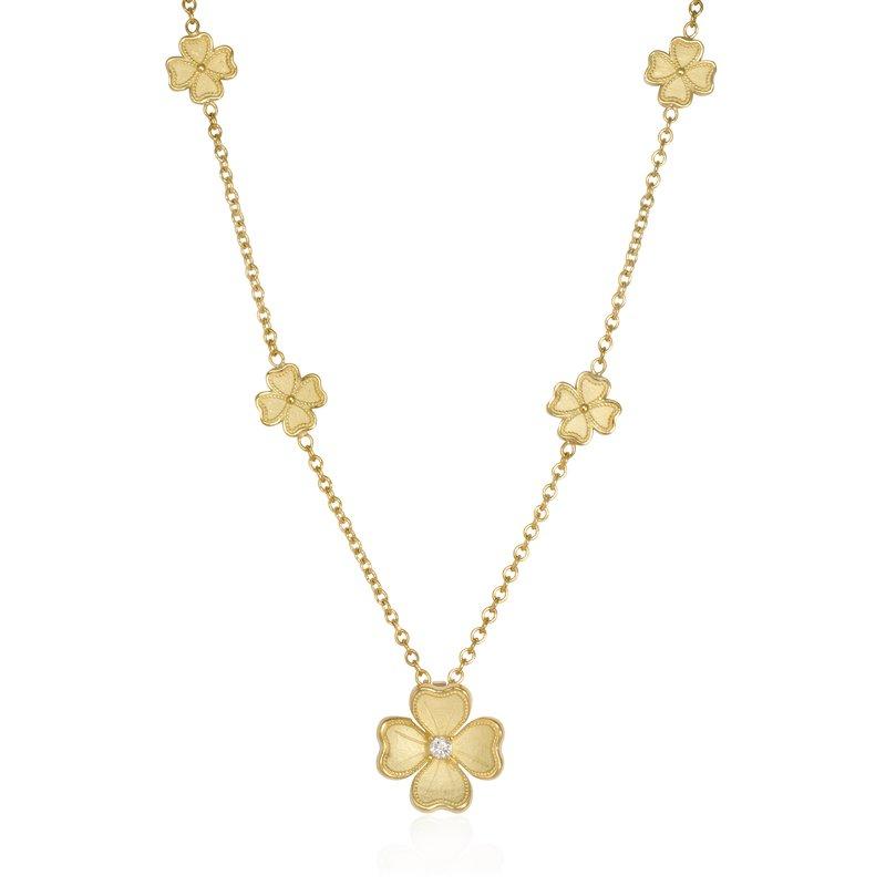 Rudolf Friedmann Yellow Gold Flower Station Necklace