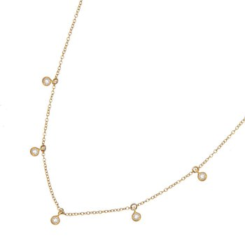 Yellow Gold Cleopatra Diamond Necklace